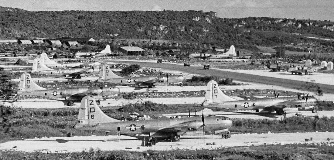500th BG Planes on Saipan Zoom 1