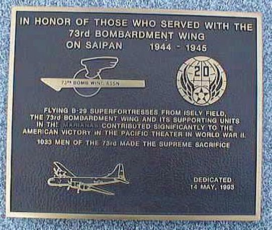 73rd Wing Plaque in Dayton, Ohio