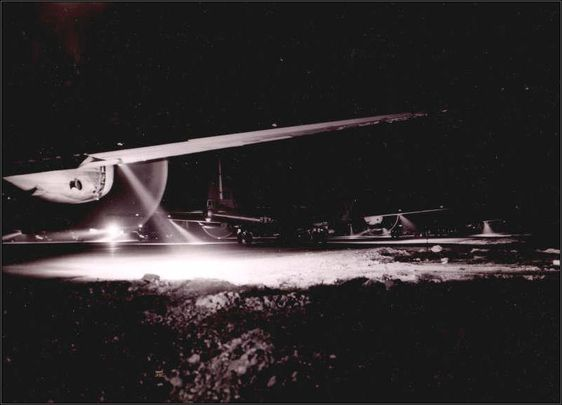B-29's night take off