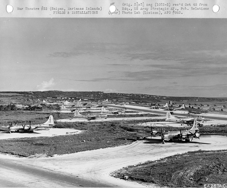 500th BG Planes on Saipan