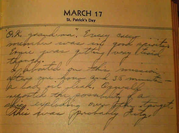 Diary entry 17 March 45