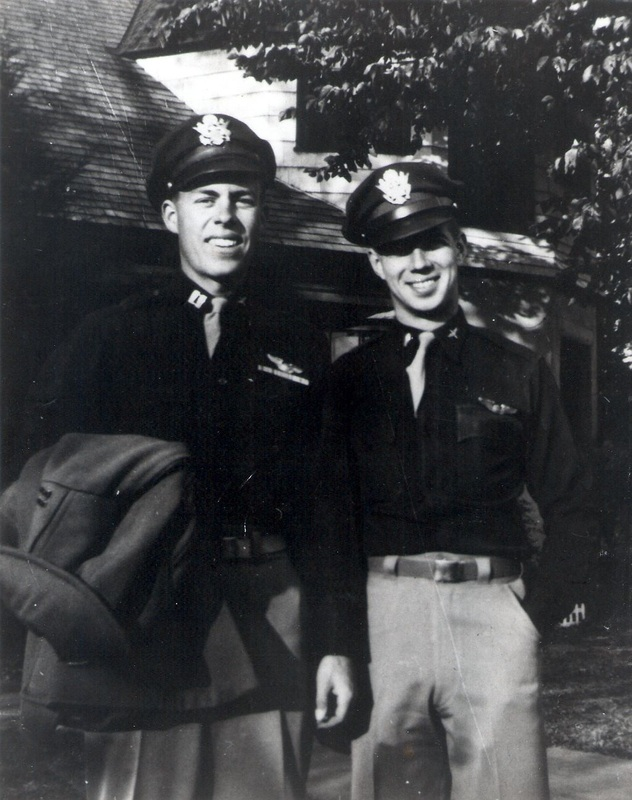 Capt Field and an unidentified fellow flight officer